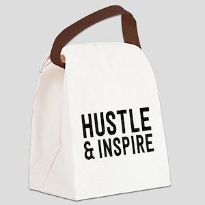 Hustle & Inspire Canvas Lunch Bag