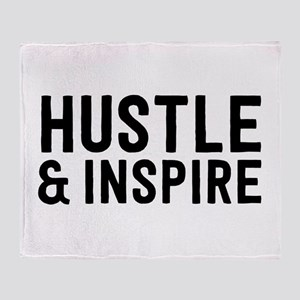 Hustle & Inspire Throw Blanket