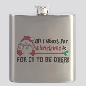 All I Want For Christmas Humor Flask