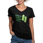 This Is How I Stroll Women's V-Neck Dark T-Shirt
