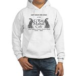 Graj Mahal Black On White Logo Hooded Sweatshirt