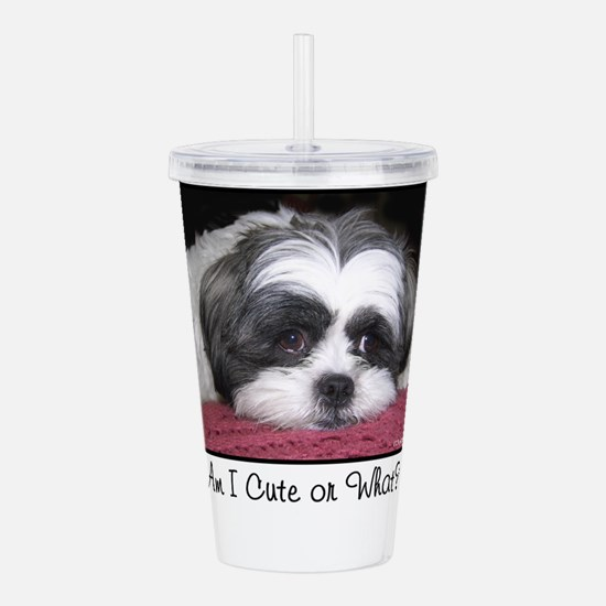 Cute Shih Tzu Dog Acrylic Double-wall Tumbler