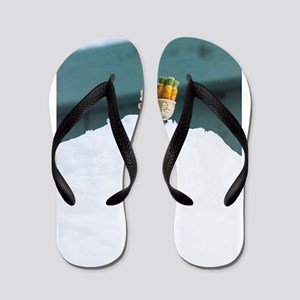 Snowy Travel Flip Flops