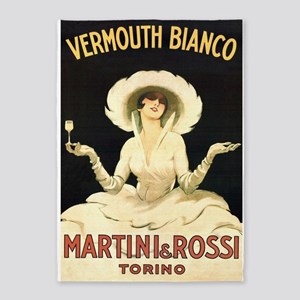 Vermouth Bianco; Vintage Art 5'x7'area Rug