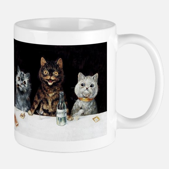 Bachelor Party Cats; Vintage Poster Mugs