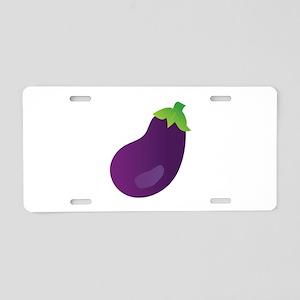 Eggplant Aluminum License Plate