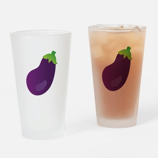 Eggplant Drinking Glass