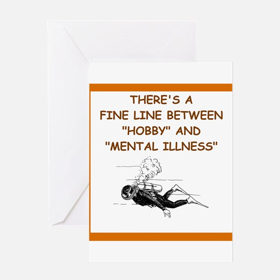 scuba diving Greeting Cards