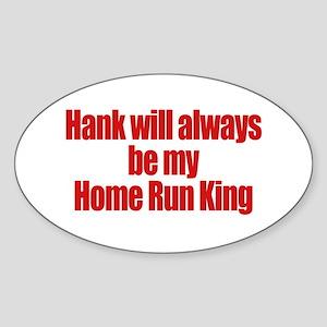 Hank Home Run Oval Sticker