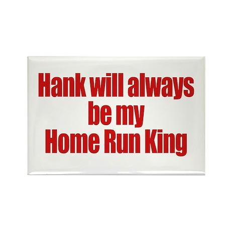Hank Home Run Rectangle Magnet