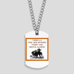 horse racing Dog Tags