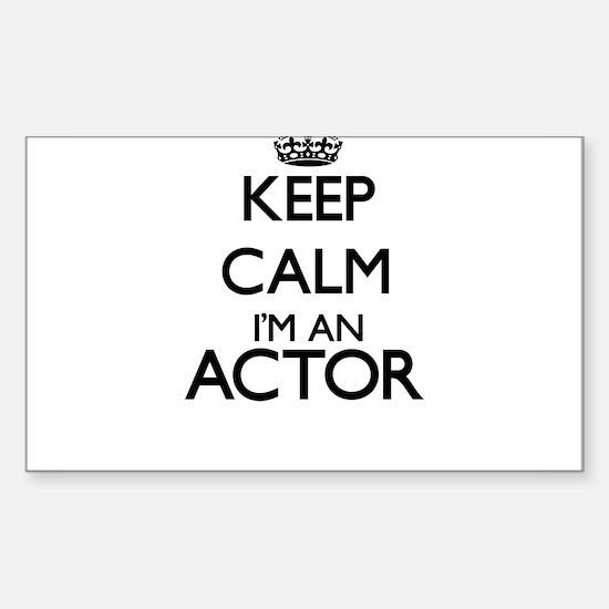 Keep calm I'm an Actor Decal