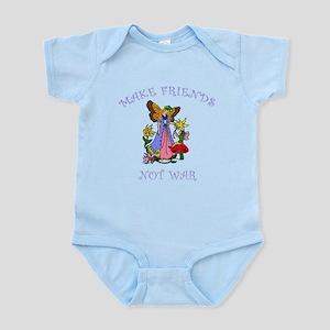 Make Friends Not War Infant Bodysuit