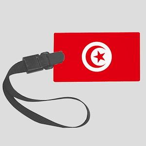 Tunisia Flag Large Luggage Tag