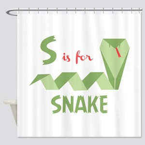 S Is For Snake Shower Curtain