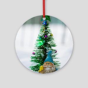 Little Gnome Tree Round Ornament