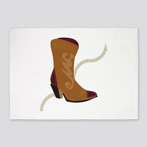 Cowgirl Boot 5'x7'Area Rug