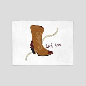Heel, Toe 5'x7'Area Rug