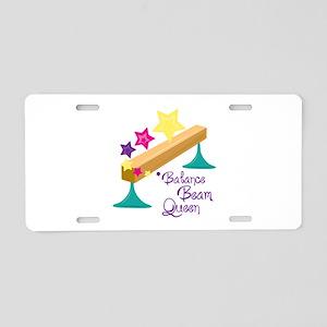 Balance Beam Queen Aluminum License Plate
