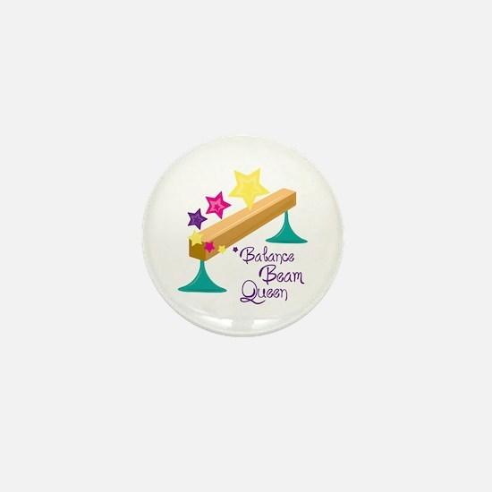 Balance Beam Queen Mini Button