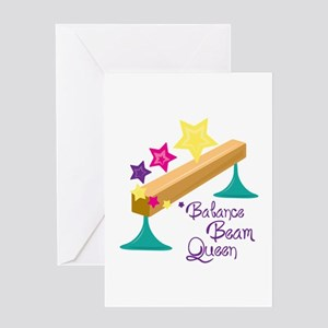Balance Beam Queen Greeting Cards