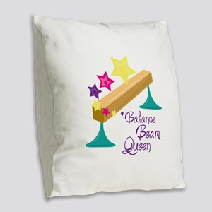 Balance Beam Queen Burlap Throw Pillow