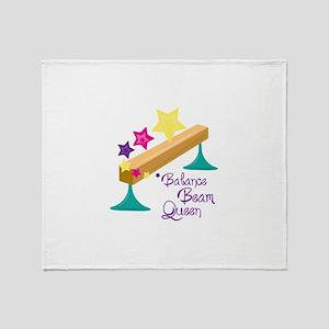 Balance Beam Queen Throw Blanket