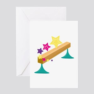 Balance Beam Greeting Cards