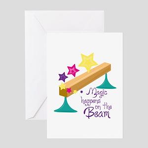 Magic Balance Beam Greeting Cards