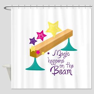 Magic Balance Beam Shower Curtain