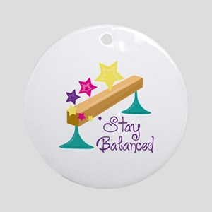 Stay Balanced Ornament (Round)