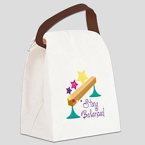 Stay Balanced Canvas Lunch Bag