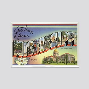 Greetings from Mississippi Rectangle Magnet