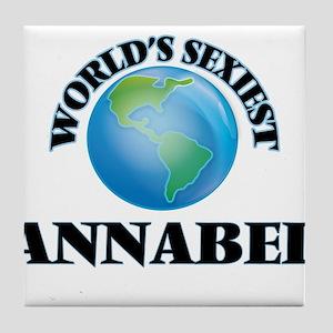 World's Sexiest Annabel Tile Coaster
