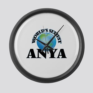 World's Sexiest Anya Large Wall Clock