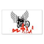 Sexy Biker Babes Rectangle Sticker