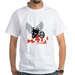 Sexy Biker Babes White T-Shirt
