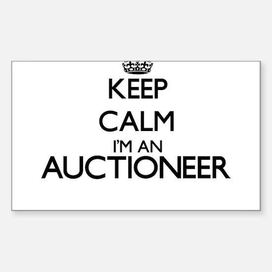 Keep calm I'm an Auctioneer Decal