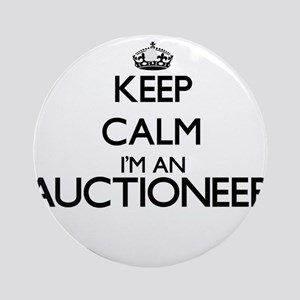 Keep calm I'm an Auctioneer Ornament (Round)