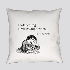 Love/Hate Writing Everyday Pillow
