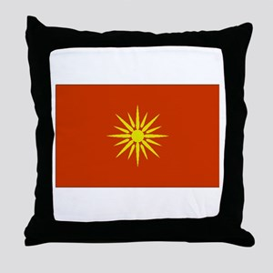 Macedonia Flag Throw Pillow