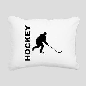 Hockey Player Rectangular Canvas Pillow