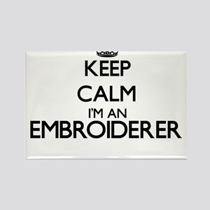 Keep calm I'm an Embroiderer Magnets