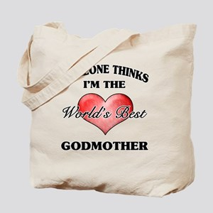 World's Best Godmother (Heart) Tote Bag