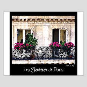 Windows Of Paris-Railing Small Poster