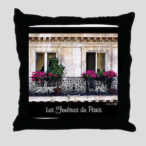 Windows Of Paris-Railing Throw Pillow