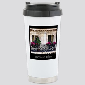 Windows Of Paris-Railin Stainless Steel Travel Mug