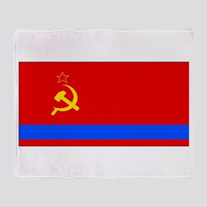 Old Kazakhstan Flag Throw Blanket