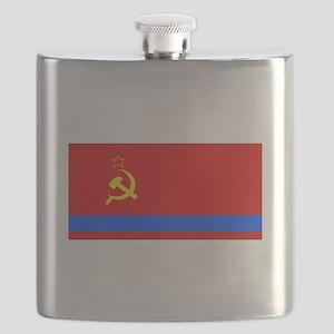 Old Kazakhstan Flag Flask