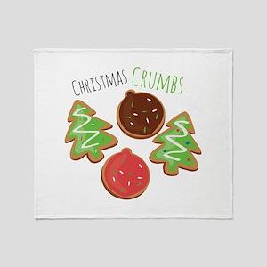 Christmas Crumbs Throw Blanket